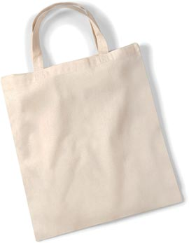 AA550 - Basic Cotton Shopper Tote Bag