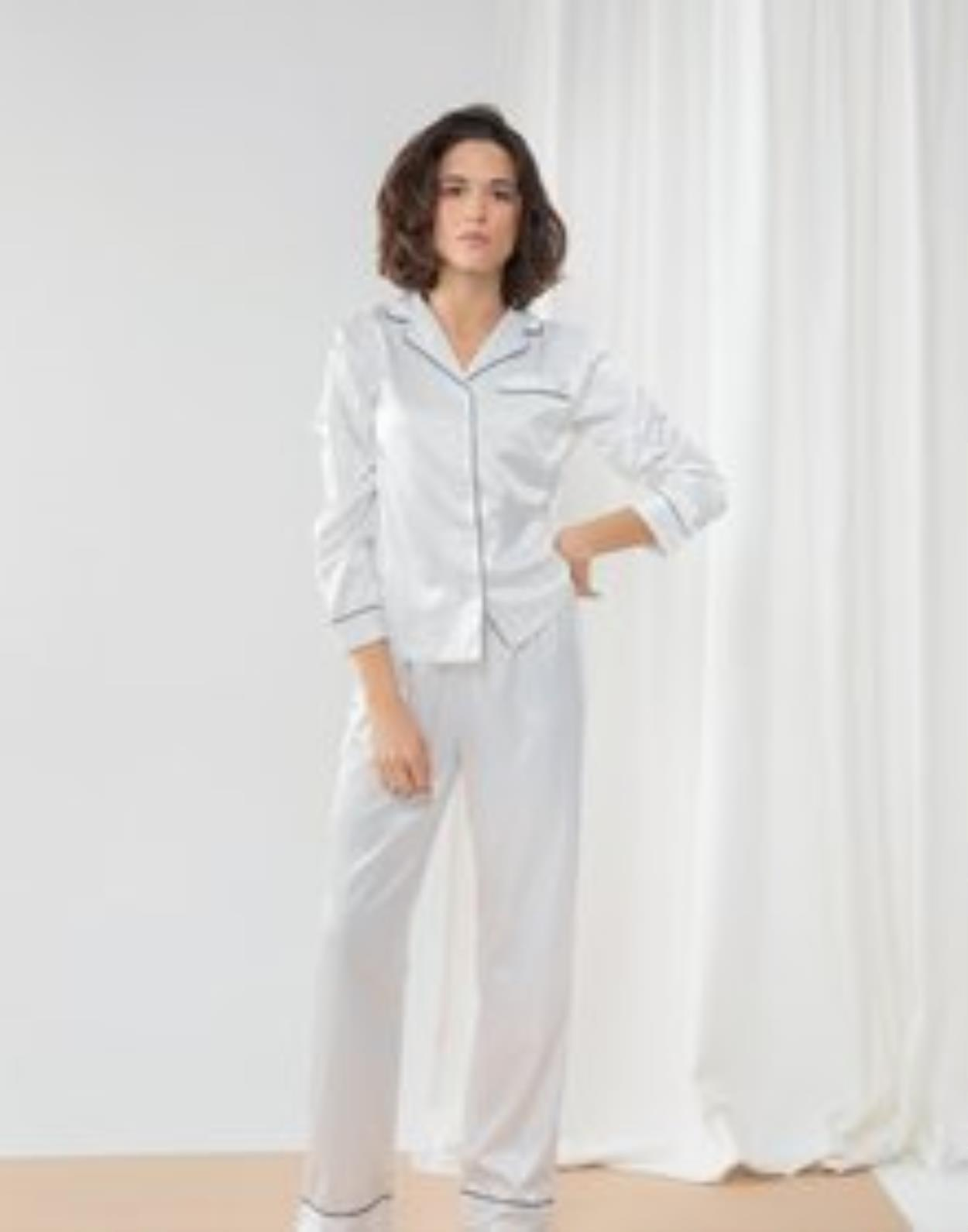 TC055 - Ladies Satin Long Pyjamas
