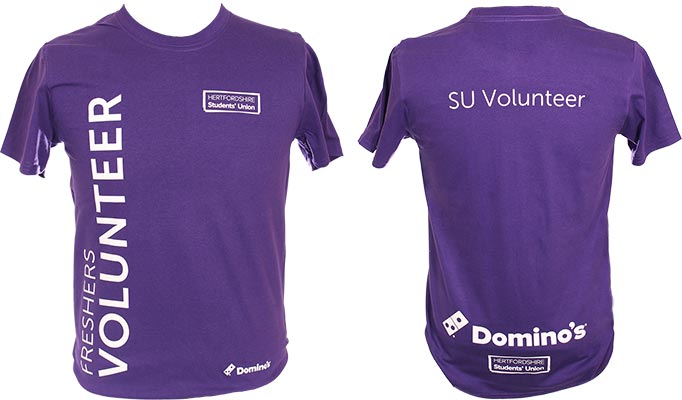 Hertfordshire Students' Union Freshers Volunteer T-Shirts